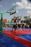 Plancher multi de cour de volleyball de badminton de terrain de basket de but (bronze d'argent d'or de basket-ball)