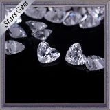 Execellent Brilliant Cut Heart Shape Cubic Zirconia per Jewelry