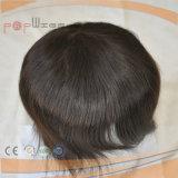 Peluca polivinílica llena corta del Hairpiece del Toupee del Mens de Dyeable del pelo humano