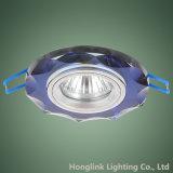De kleurrijke Inrichting Downlight van de Vorm van de Achthoek van het Glas van de Decoratie Blauwe In een nis gezette GU10