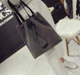 方法女性のための白いキャンバスファブリックハンドバッグの夏のショルダー・バッグ