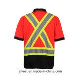 T-shirt r3fléchissant de polo de bande de sûreté faite sur commande avec la maille de Birdeye