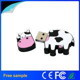 2016 lecteur flash USB réel de forme de vache à PVC de la capacité 2GB