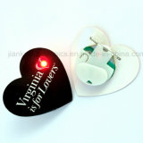 Förderung Gifts Flashing LED Badge mit Logo Printed (3569)