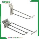 Single Double Prong Steel Wire Display Gancho para Supermercado