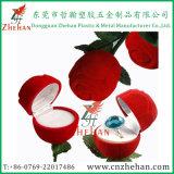 Contenitore di imballaggio di plastica dell'anello di barretta del velluto di vendita calda per il regalo dei monili