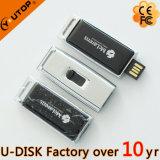 Couvrant d'un dôme le métal de logo glissant le lecteur flash USB (YT-3296L)