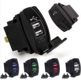 Новые 4 цвета удваивают перекидной переключатель Carling заряжателя автомобиля DC 12V входного сигнала 5V USB Port для Landcruiser Pardo Nissan