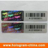 3D Laser 반대로 위조 Barcode 홀로그램 스티커