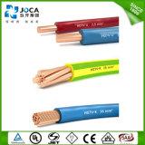 VDE 0281 кабеля H07V-U 450/750V DIN здания сертификата Ce Approved твердый медный, часть 1, HD21.1