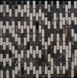 ステンレス鋼の背景の壁(FYSM075)のための混合された性質の石の大理石のモザイク
