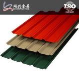 Lange Überspannung farbiges Zink-Aluminiumtrapez-Dach-Blatt