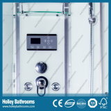 Quarto de chuveiro computarizado vendável com a porta deslizante da roda Nano e dobro do rolo (SR214W)