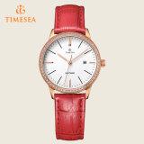 Neue Form-klassischer Dame Womens Leather Quartz Armbanduhr 71087