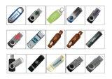 Movimentação plástica de alumínio longa do flash do USB do tampão dos presentes por atacado
