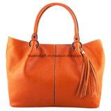 Le sac à main en cuir orange élégant de mode éventuelle