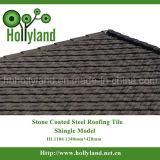 Strato d'acciaio del tetto con la pietra ricoperta (mattonelle dell'assicella)