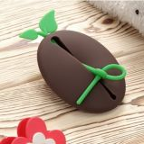 LFGB Cute Round Shape Silicon Coin Holder Fall und Keychain