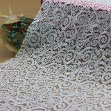 Poliestere Voile svizzero Crochet Lace Fabric per Garments Accessories