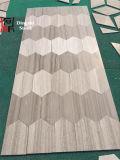 Weißer hölzerner Ader-Marmor-Fußboden/Wand-Umhüllung
