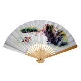De Chinese Giften Fan/Promotion van de Douane van Fodable van de Ambachten van de Hand Houten