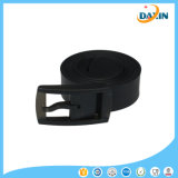 Shocking Show Hommes Femmes Unisexe Smooth Silicone Rubber Leather Belt Plastic Buckle Nouveau
