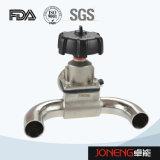 Tipo sanitario válvula de diafragma (JN-DV1018) de 3 maneras U del acero inoxidable