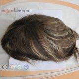 十分の人間の毛髪多上塗を施してあるメンズシステム、毛の部分のToupee