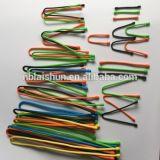 Relation étroite de torsion en caoutchouc réutilisable de vitesse de serre-câble de silicones de vitesse