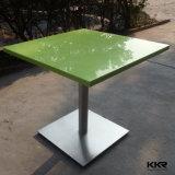 Table basse en pierre artificielle de blanc de restaurant