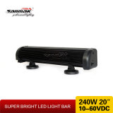 barra clara do diodo emissor de luz da fileira dobro do CREE 240W de 20inch 10W Offroad