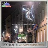 Motivo galvanizado estação de pólo claro do anjo da rua do Natal para a venda
