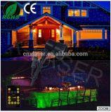 Laser ao ar livre do Natal e das luzes do jardim da decoração azul verde e vermelha do projetor do laser