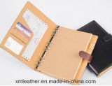 Diário de couro personalizado qualidade da escrita dos cadernos da agenda