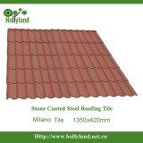 Telha de telhadura revestida do metal da pedra colorida (telha de Milão)