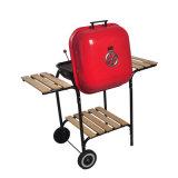 Gril à cuire réglable de charbon de bois de hauteur à vente de chariot de gril chaud de BBQ