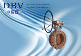 Hand Wheel Flanged Metal Seated Industrial Butterfly Valve