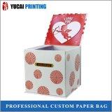 Boîte de papier de cadeau chaud de vente avec le logo imprimé