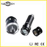 크리 사람 XP-E LED 280 루멘은 방수 처리한다 미끄럼 방지 LED 토치 (NK-1866)를