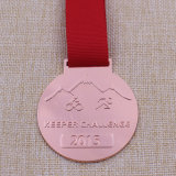 Medaglia di riciclaggio personalizzata del medaglione di esecuzione del metallo per il Triathlon
