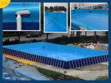 Natación divertida del patio del marco del metal de Intex sobre la piscina de tierra