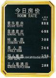 Buena tarjeta al por mayor de la muestra del acero inoxidable del precio para el pasillo del hotel