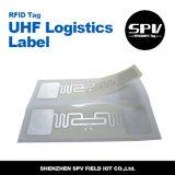 Papel revestido Impinj M4 18000 6c de la etiqueta de la frecuencia ultraelevada de la logística de la escritura de la etiqueta de RFID