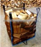 Grand sac aéré de maille pour le bois de chauffage