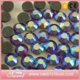 Rhinestone brillante Strass di colore caldo di vendita DMC ab per l'ornamento dell'indumento