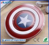 Carregador sem fio portátil para o carregador do capitão América do telefone móvel