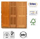 Puerta de madera interior, puertas de madera del surtidor de China