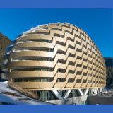 Panneau en aluminium rétractable pour bâtiment en façade en aluminium