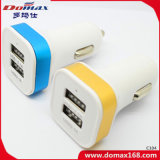 De mobiele Lader van de Auto USB van Toebehoren Phonea Dubbele met de Cirkel van het Aluminium