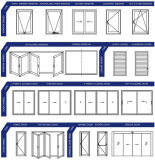 Puerta de aluminio del diseño de gama alta para la puerta Bifold de cristal